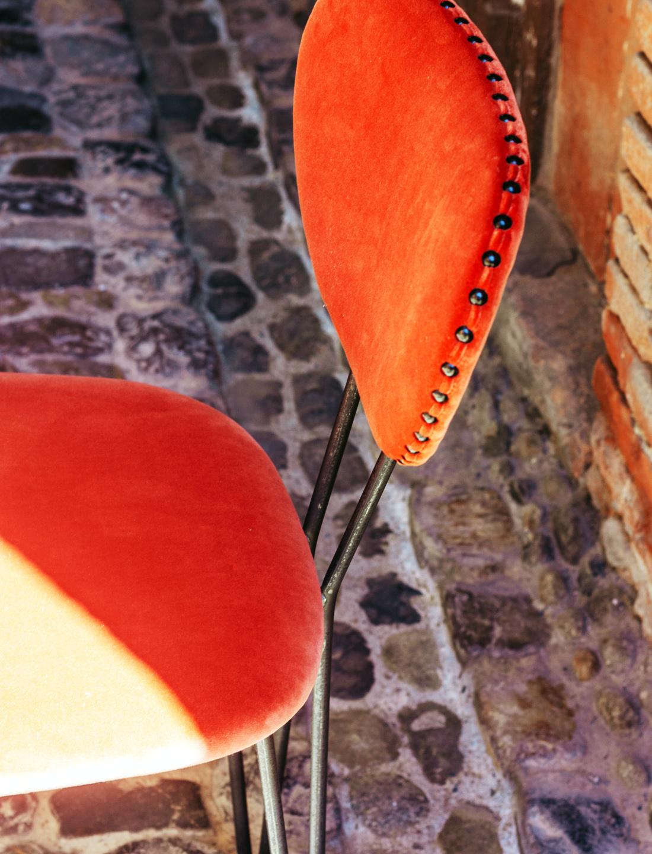 Chaise trombonne velours - Caravane - Terra Rosa Décoration Toulouse