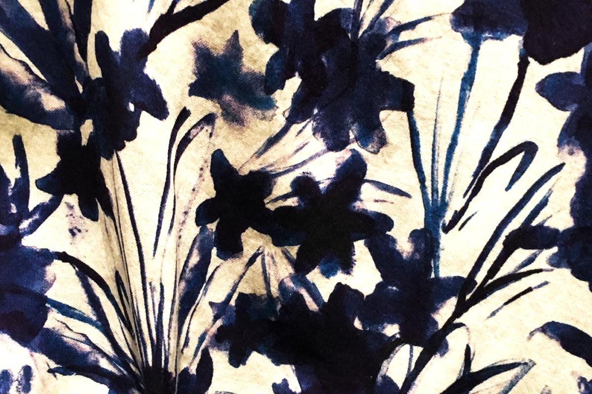 Cotton Fleuri - Indigo fleurs bleues - Terra Rosa Décoration Toulouse